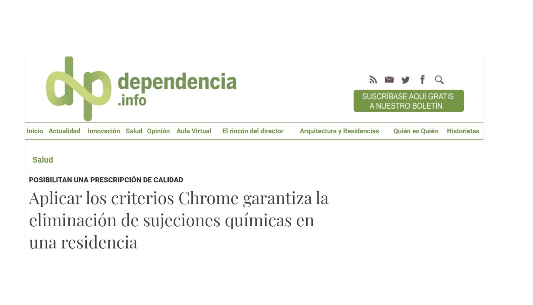 Artículo de Dependencia.info y entrevista a Ruben Muñiz sobre Criterios CHROME®